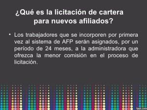 Licitacion AFPs