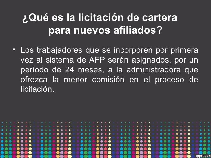 Segunda licitación en las AFP peruanas