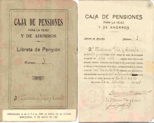 La primera afiliada a la Caja de Cataluña