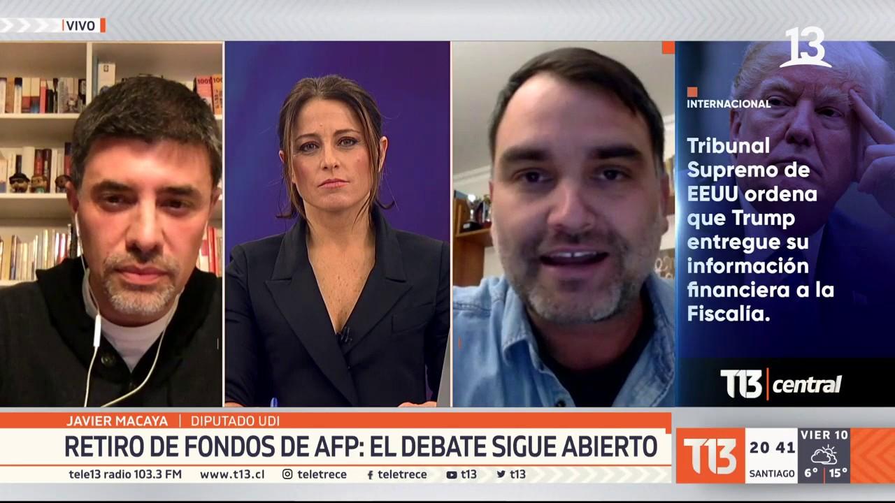 Sigue el debate sobre el retiro de fondos de las AFP, en Chile